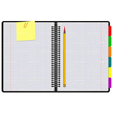 Notebook paper clipart image 6396