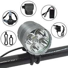 LED Bike Light Set Wasafire 6000 Lumen Rechargeable Bicycle Light