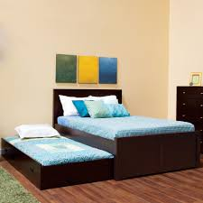 king full size bed with trundle modern storage twin bed design