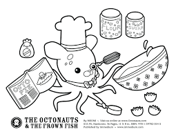 Junior Coloring Pages Octonauts Colouring Gup X Dashi Disney Jr Full Size