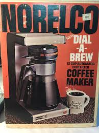 Vintage 70s Norelco 12 Cup Dial A Brew Coffee Maker Hb 5150