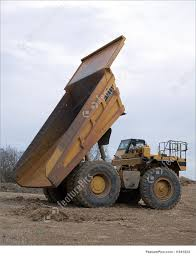 100 Large Dump Trucks Profile Of Large Yellow Dump Truck With Bed Raised