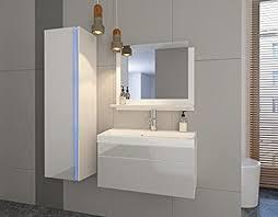home direct 2 badezimmer möbel badmöbel komplett weiß mat base weiß hg front led rgb mit infrarotfernbedienung