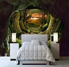 tapeten retro höhle urwald 3d raum großes wandbild