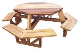 outdoor furniture octagon picnic table plan workshop supply