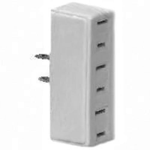 Cooper Wiring 1747w-box 2 Wire Tap and Adapter - White, 3 Outlets