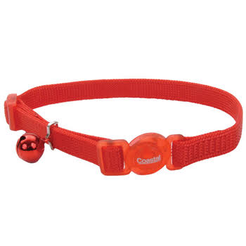 Coastal Pet Nylon Safe Cat Adjustable Breakaway Collar - Red