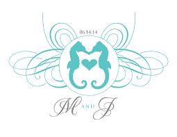 Wedding Clipart Seahorse 2