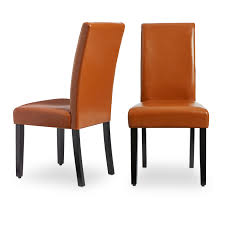 Shop Villa Faux Leather Dining Chairs (Set Of 2) - Free Shipping ...