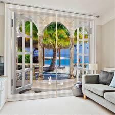 Details About 3D Door Window Curtain Panel Drape Bedroom Valance Home Living Room Hotel Decor