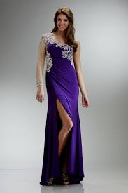 elegant purple long and short party costumes looks u2013 designers
