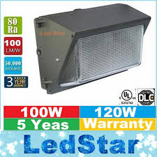 shop ac110 277v ip68 100w led wall pack light l outdoor