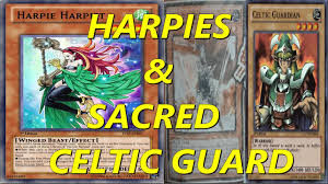 yugioh duels harpie ladies sacred celtic guard and deck