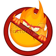 Royalty Free Royalty Free RF Clipart Illustration Stop Fire Sign