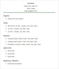 Simple Membership Resume CV Template