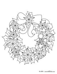 Flowers And Stars Wreath Coloring Page