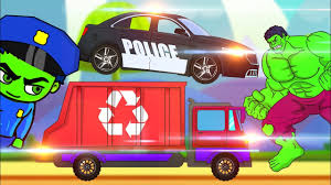 100 Garbage Truck Youtube Kids Police Car And Garbage Truck Vehicles For In Animated Cartoon