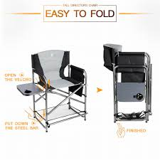 EVER ADVANCED Full Back Aluminum Folding Directors Chair With Side ... Porta Brace Directors Chair Without Seat Lc30no Bh Photo Tall Camping World Gl Folding Heavy Duty Alinum Heavy Duty Outdoor Folding Chairs 28 Images Lawn Earth Gecko Wtable Snowys Outdoors Natural Gear With Side Table Creative Home Fniture Ideas Glitzhome 33h Outdoor Portable Lca Director Chair Harbour Camping Heavyduty Chairs X2 Easygazebos Duratech Horse Tack Equipoint
