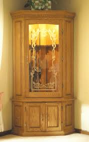 Wooden Gun Cabinet With Etched Glass by Jomarko Com