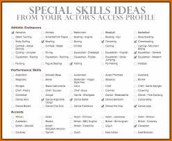 Skills For Resume Examples List Of And