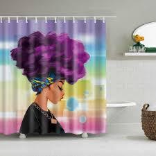 mädchen beast afrikanische frauen polyester ouija hippie boho decor design badezimmer dusche vorhang hängen vorhang