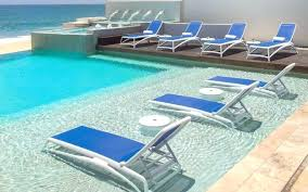 Swimming Pool Lounge Chair Deck Loungers Lawn Chairs White Outdoor Black