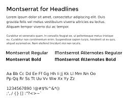 Montserrat Fonts Fedora Project Wiki