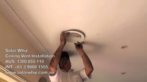 Ceiling Ac Vent Deflectors by Ceiling Vent Installation Youtube