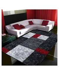 moderner designer konturenschnitt 3d wohnzimmer teppich hawaii rot größe 80x150 cm