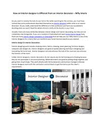 100 Home Interior Decorator How An Interior Designer Is Different From An Interior