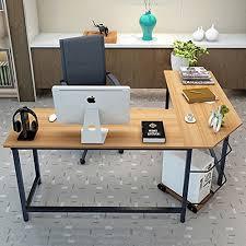 Sauder Parklane Collection Computer Desk Cinnamon Cherry by Tribesigns Modern L Shaped Desk Corner Computer Desk