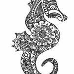 Seahorse Coloring Pages To Print