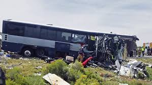100 Simi Truck Greyhound Bus Semi Crash HeadOn In New Mexico At Least 7