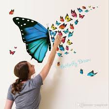 Beautiful Flying Butterfly Wall Stickers Creative Art Diy Pvc Decorations Decals Home Decors Sticker Decor Decal From