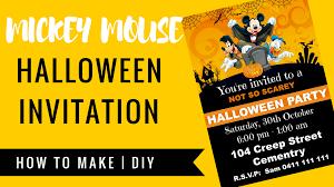 Halloween Scene Setters Amazon by Free Mickey Mouse Halloween Invitation Cakecrusadersblog Com