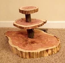 Image Of Rustic Wood Cake Stand
