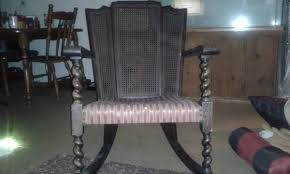 Laura's Antique, Barley Twist Rocking Chair With Vertical Ladder ...