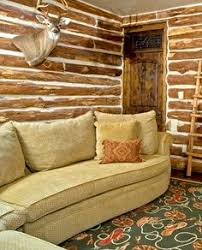 Rustic Ranch Living Room From Design House Houston TX Timber Walls