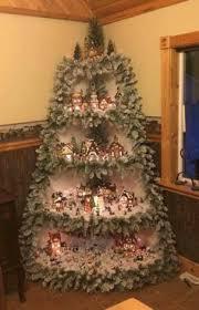 Corner Christmas Tree Village Display Ornament With