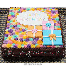 Happy Birthday Chocolate Cake 2lb SHAPED CAKE at Kapruka line