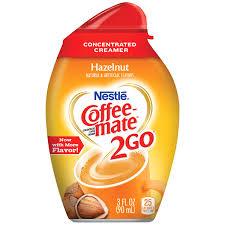 Nestle Coffeemate 2Go Hazelnut Concentrated Liquid Coffee Creamer 3 Oz