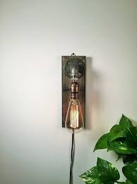 astonishing edison bulb wall sconce industrial wall sconce with