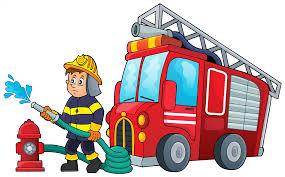 100 Fire Truck Cartoon Engine Fighter Illustration Man 23851484