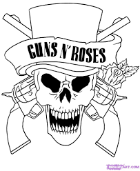 Skull Adult Fantasy Vampire Guns N Roses Coloring Pages