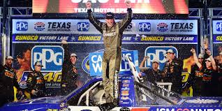 100 Nascar Truck Race Results Johnny Sauter Holds Off Stewart Friesen For Texas Win NASCARcom