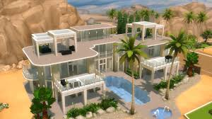 100 Glass Floors In Houses The Sims 4 House Building Modern Mansion With GLASS FLOOR
