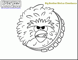 Marvelous Angry Birds Star Wars Coloring With Chewbacca Pages And