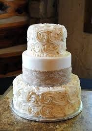 30 Burlap Wedding Cakes For Rustic Country Weddings
