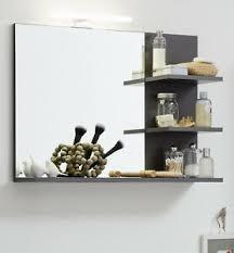 details zu badspiegel indy ablage regal in grau matera badezimmer wandspiegel spiegel 70 cm