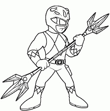 Mighty Morphin Power Rangers Coloring Page Printable Pages
